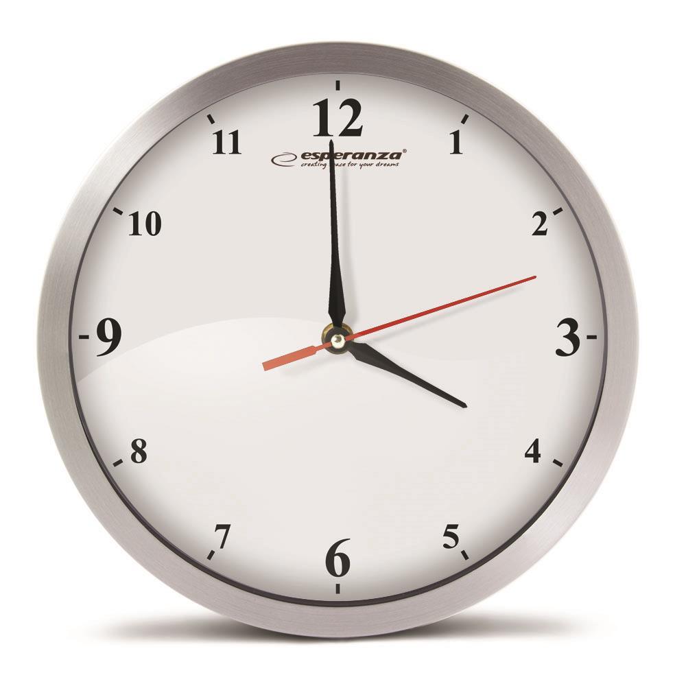 Esperanza EHC009W DETROIT nástěnné hodiny, bílé
