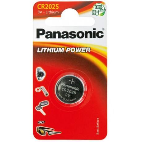 Panasonic Lithium Power knoflíková baterie CR2025, 1 ks, Blister