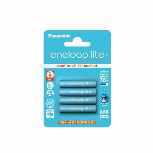 Panasonic Eneloop Lite R03/AAA 550mAh, 4 ks, Blister