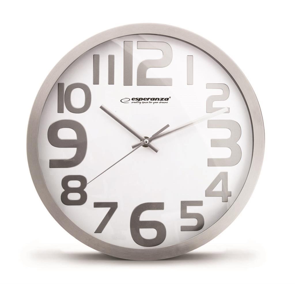 Esperanza EHC012W HONGKONG nástěnné hodiny, bílé