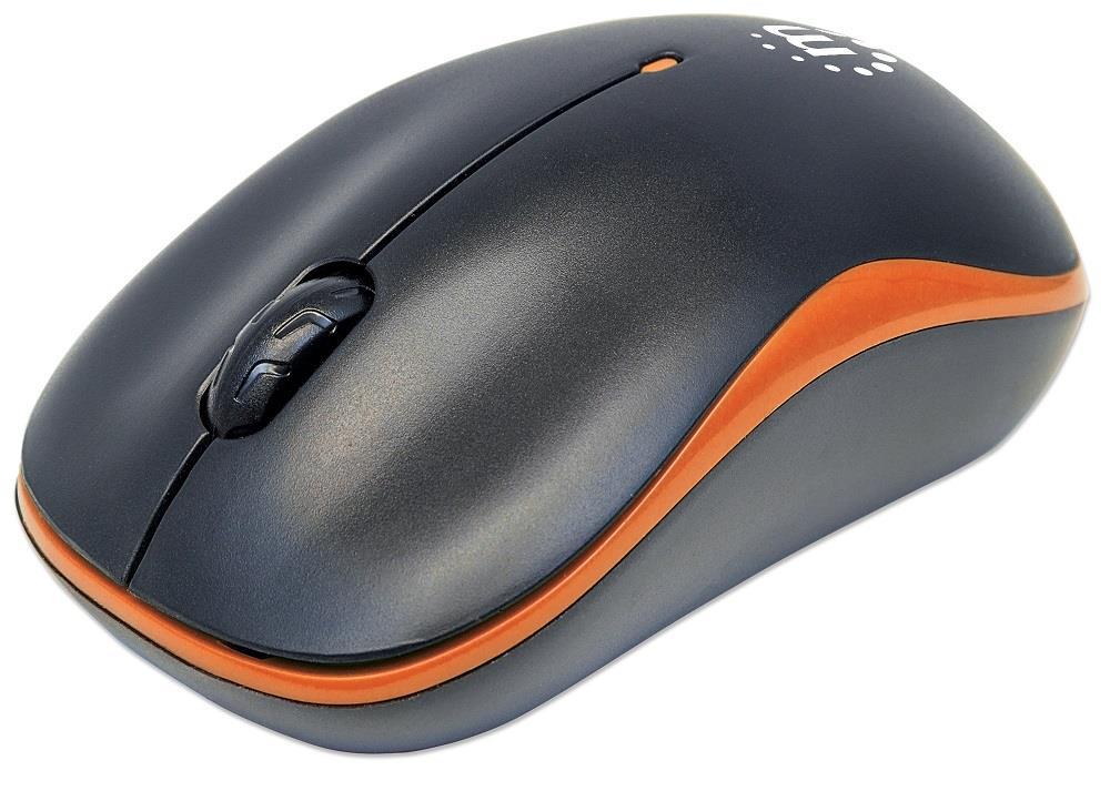 MANHATTAN Myš Success, USB optická, 1000 dpi, černo-oranžová