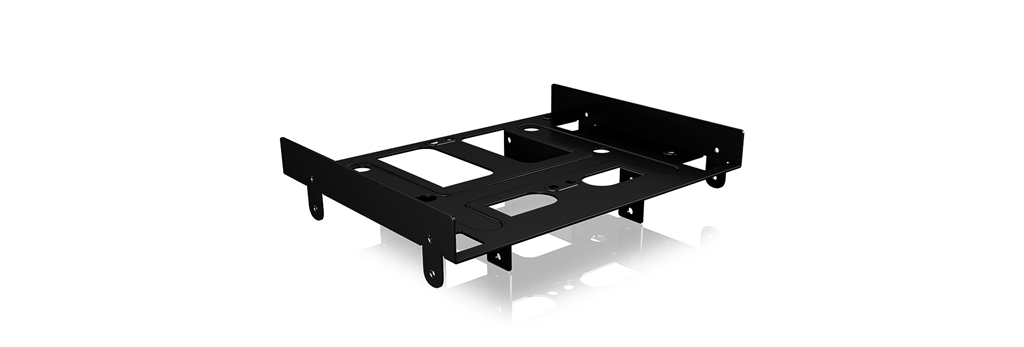 IcyBox Internal Mounting frame for 2.5''/3.5'' HDD/SSD in 5.25'' Bay, Black