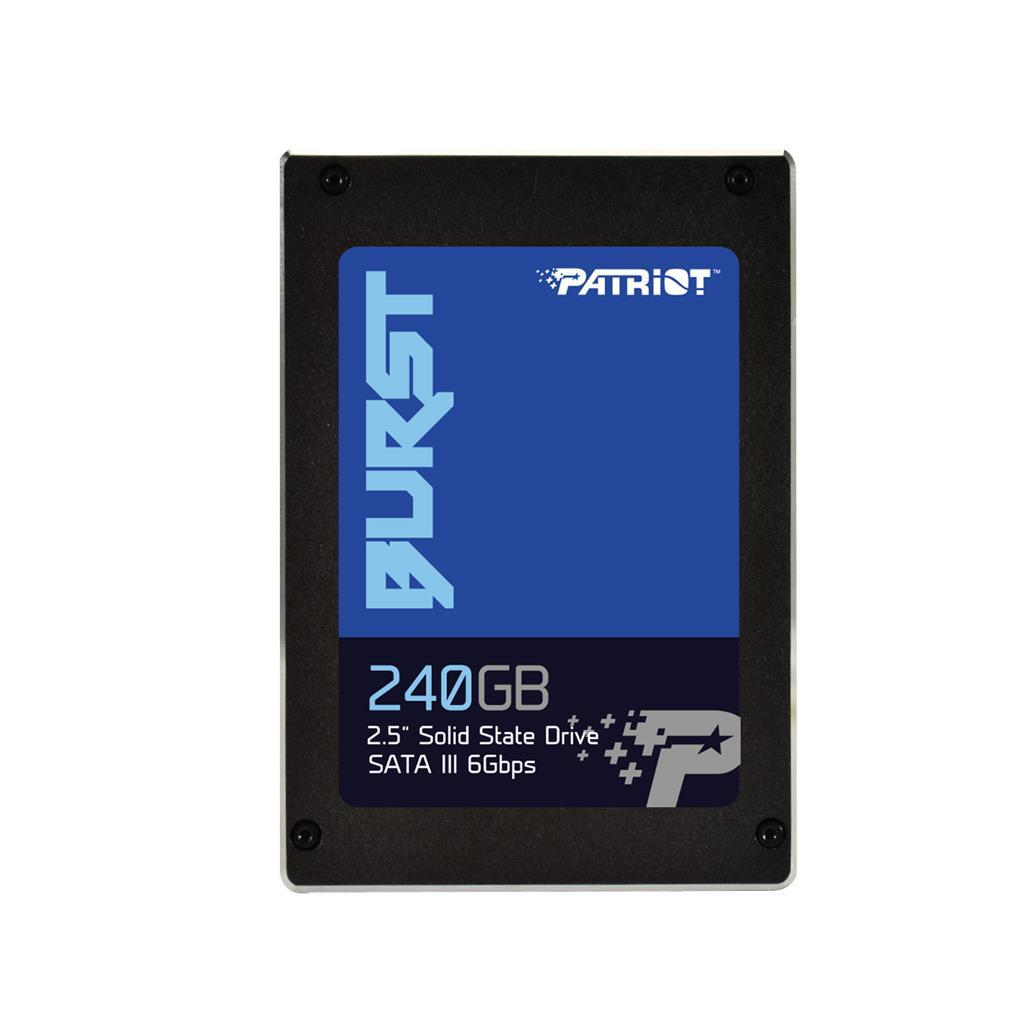 Patriot SSD Burst 240GB 2.5'' SATA III read/write 555/500 MBps, 3D NAND Flash