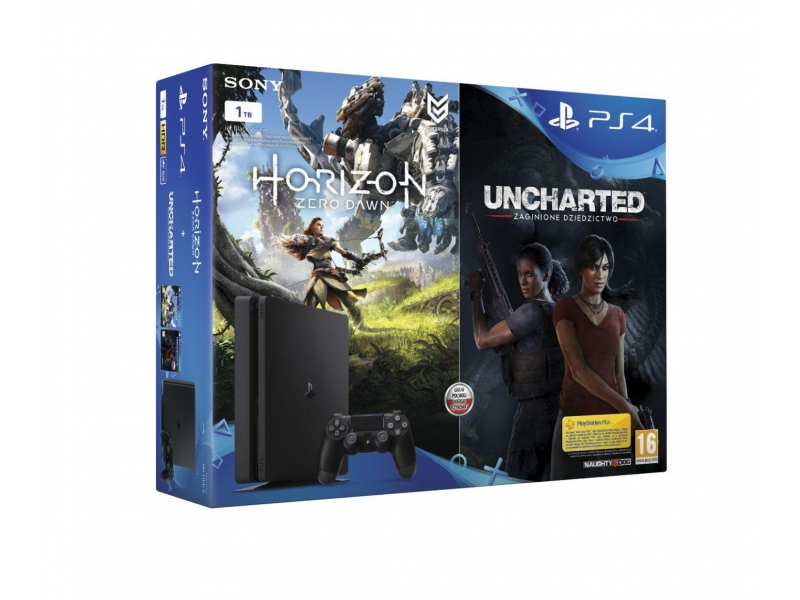 Sony Playstation 4 Slim 1TB + Horizon Zero Dawn + Uncharted: The Lost Legacy