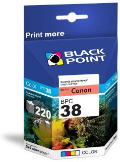 Ink Black Point BPC38 | Color | 9 ml | 220 p. | Canon CL-38