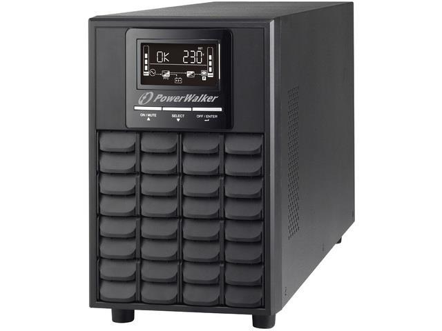 Power Walker UPS On-Line 1/1PHASE 1500VA, CG, PF1 USB/RS-232, 4x IEC, EPO, LCD