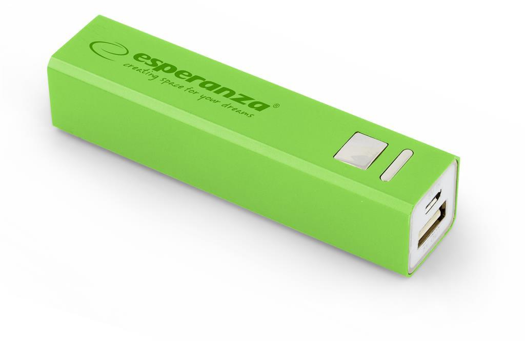 Esperanza EMP102G ERG externí baterie 2400mAh, zelená