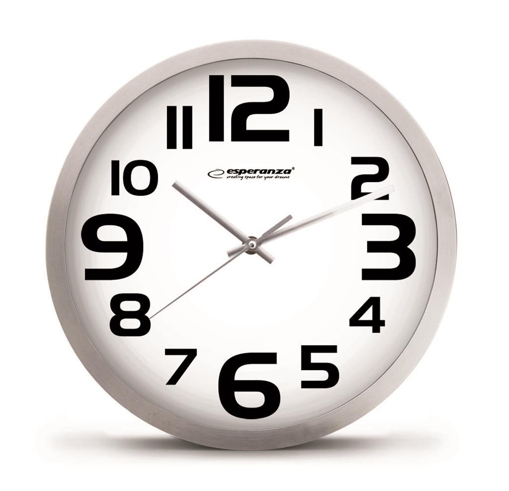 Esperanza EHC013W ZURICH nástěnné hodiny, bílé