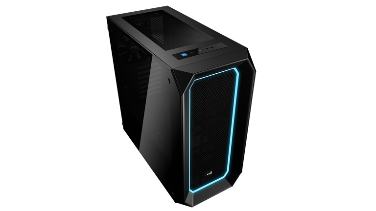 PC skříň Aerocool ATX P7 C0 BLACK Tempered Glass, USB 3.0,bez zdroje