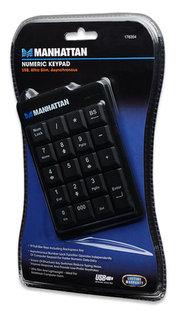Manhattan Ultra Slim numerická klávesnice USB, černá