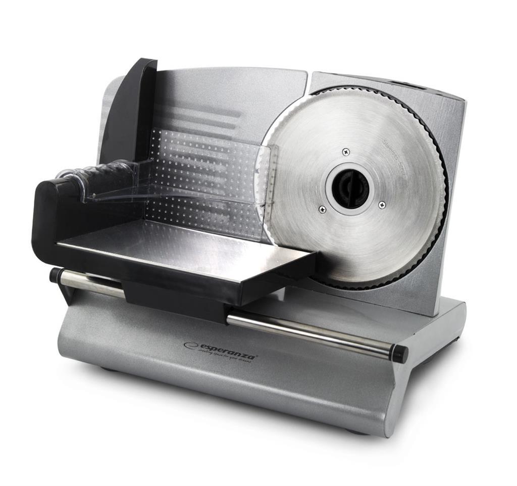 Esperanza EKM018K MORTADELLA elektrický kráječ 150W (0-150mm), stříbrný