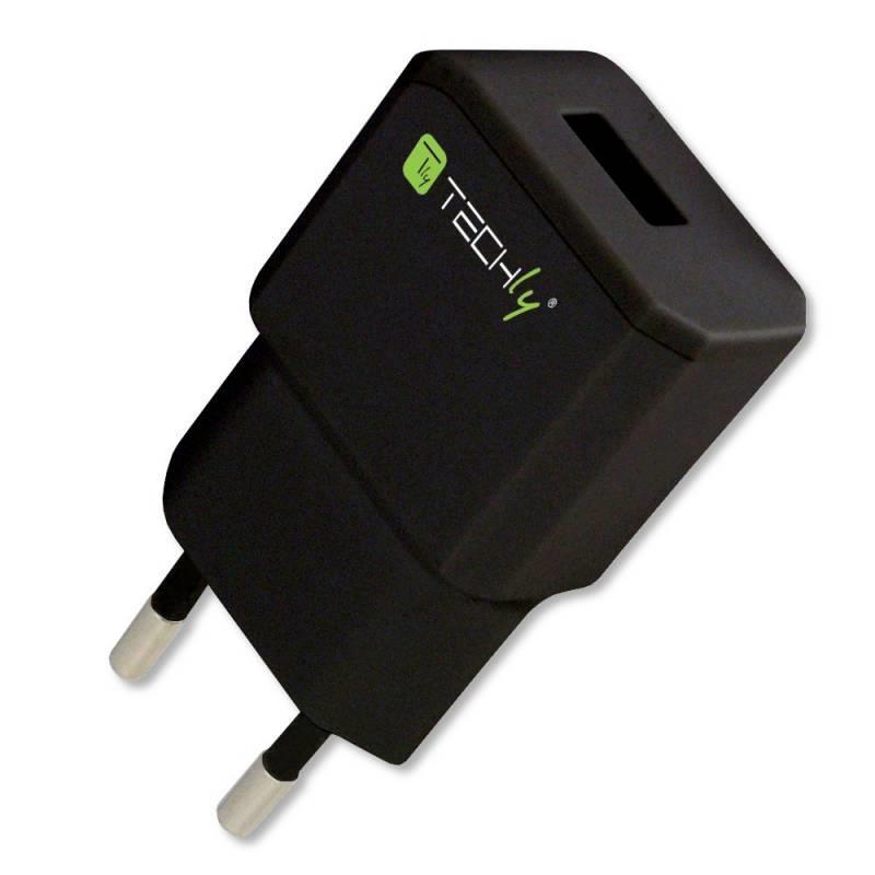 Techly Síťová nabíječka Slim USB 5V 2.1A černá
