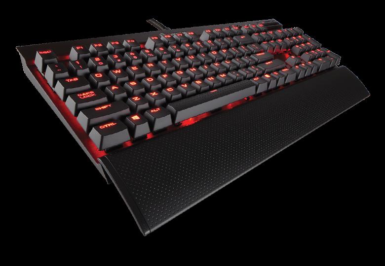 Corsair mechanická herní klávesnice K70 LUX, červené podsvícení, MX Cherry, US