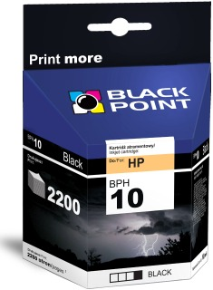 Ink Black Point BPH10BK   Black   69 ml   2200 p.   HP C4844
