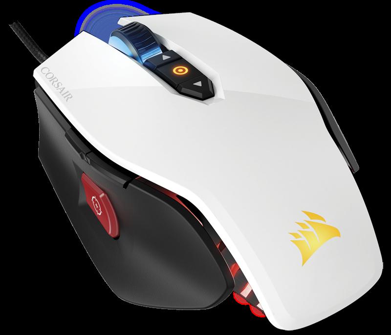 Corsair optická herní myš M65 PRO RGB FPS, 12000 dpi, 8 tlačítek, bílá