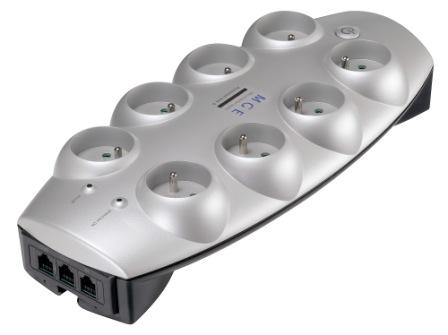 Eaton Protection Box 8 Tel@+TV FR, přepěťová ochrana, 8 zásuvek, 1.8m