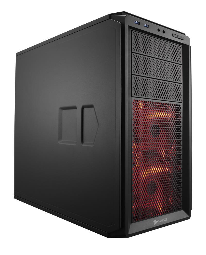Corsair PC skříň Graphite Series™ 230T Compact Mid Tower Case, Black, LED fans