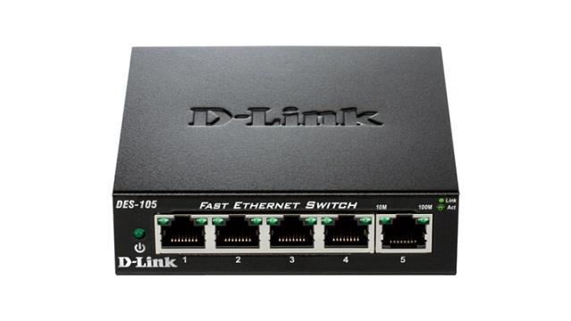 D-Link 5-port 10/100 Metal Housing Desktop Switch