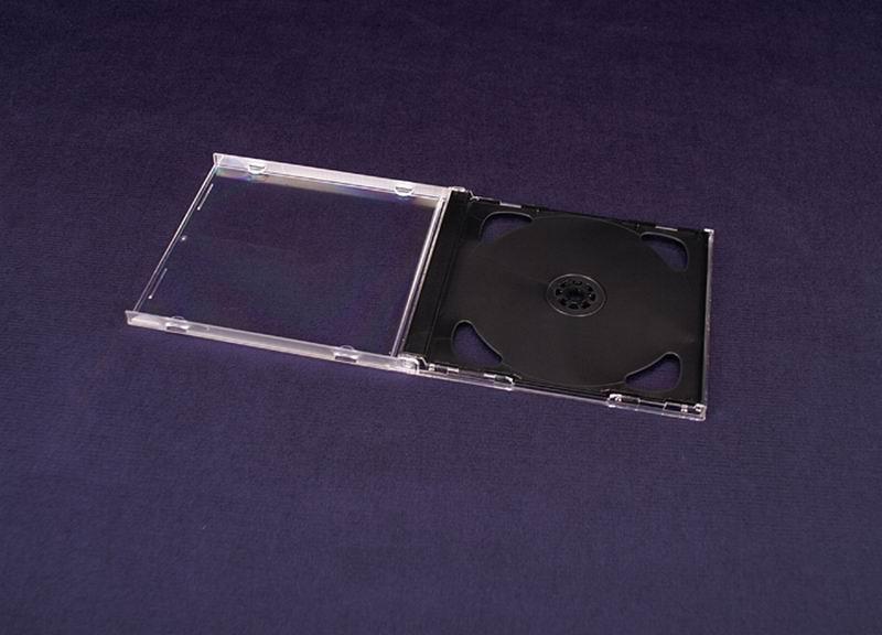 Esperanza Plastové krabičky na 2 CD/DVD | 200 ks, černé