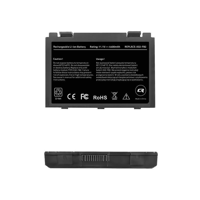 Qoltec Long Life baterie pro notebooky ASUS F82, F83S 11.1V | 4400mAh