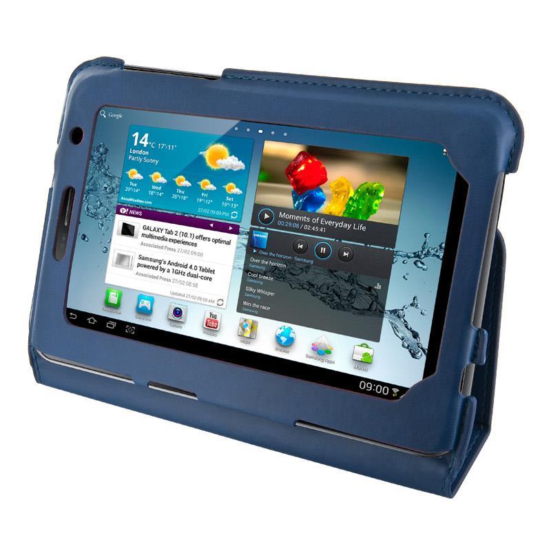 4World Pouzdro - stojan pro Galaxy Tab 2, Ultra Slim, 7'', modrý