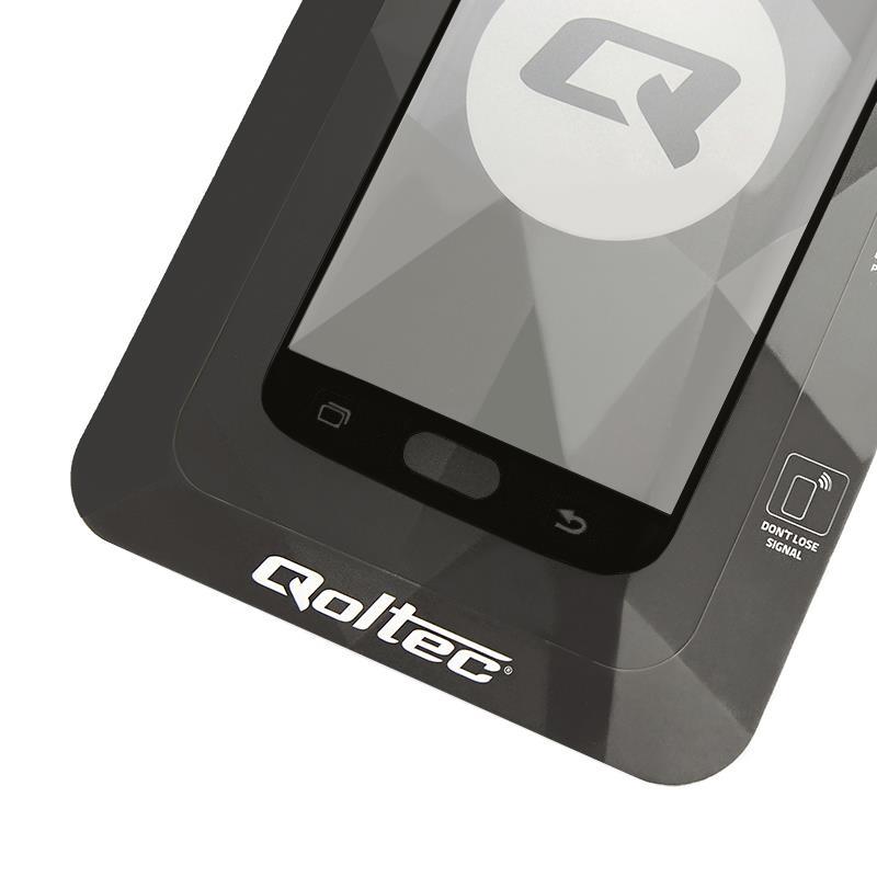 Qoltec tvrzené ochranné sklo premium pro smartphony Sam.S7 edge|full cover|černá