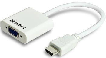 Sandberg konvertor HDMI > VGA, bílý