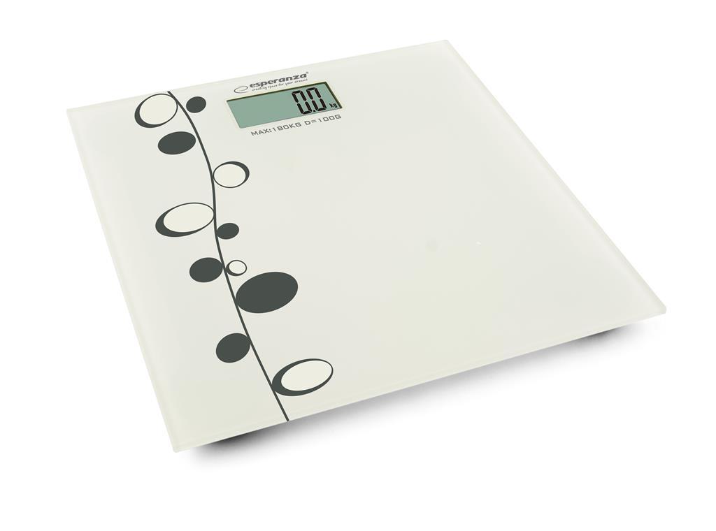 Esperanza EBS005 ZUMBA osobní digitální váha, bílá s černým vzorem