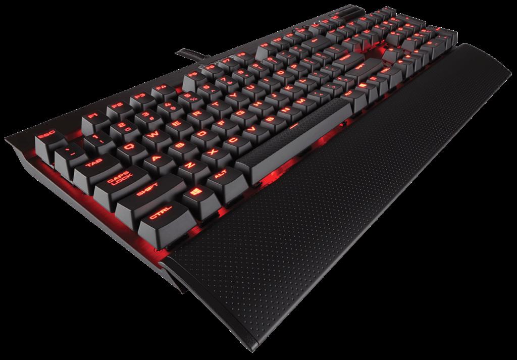 Corsair mechanická herní klávesnice K70 LUX, červené podsvícení, MX Blue, US