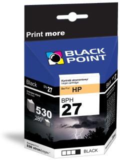 Ink Black Point BPH27   Black   20 ml   530 p.   HP C8727