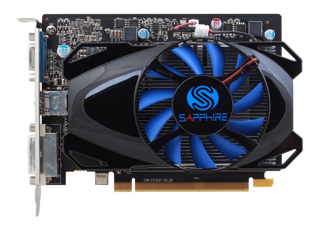 Sapphire Radeon R7 250, 1GB GDDR5 (128 Bit), HDMI, DVI, BULK