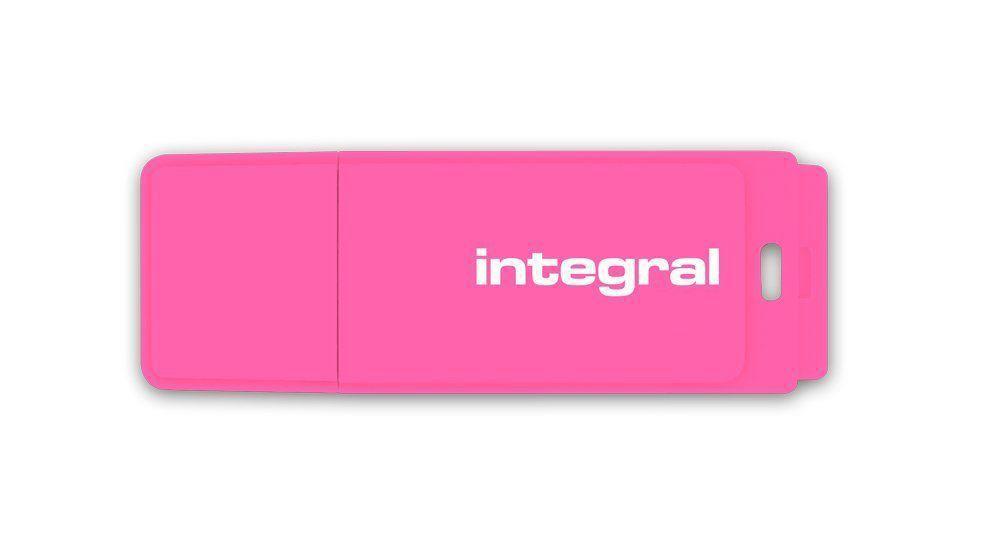 INTEGRALK USB Flash Drive Neon 8GB USB 2.0 - růžový