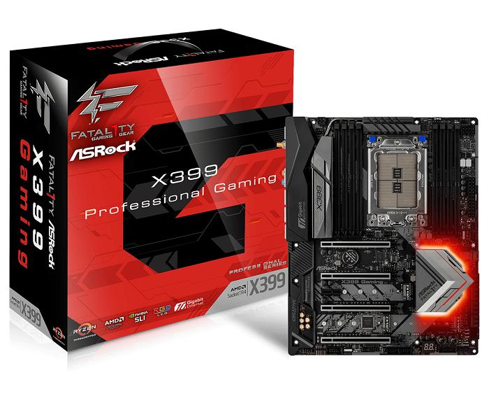 ASRock X399 PROF. GAMING, X399 TR4, DDR4 3600+(OC), USb 3.1