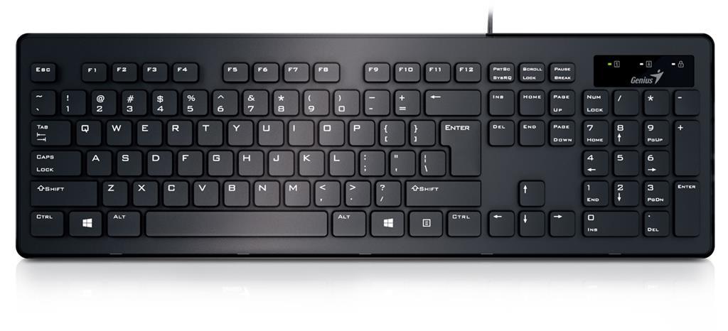Genius keyboard SlimStar 130, black, US layout
