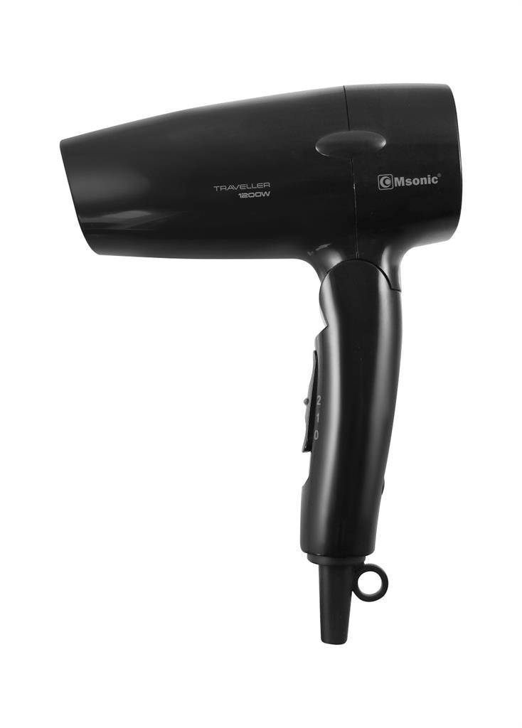 Msonic cestovní vysoušeč vlasů MHR2508K   1200W, sklopná rukojeť, černý