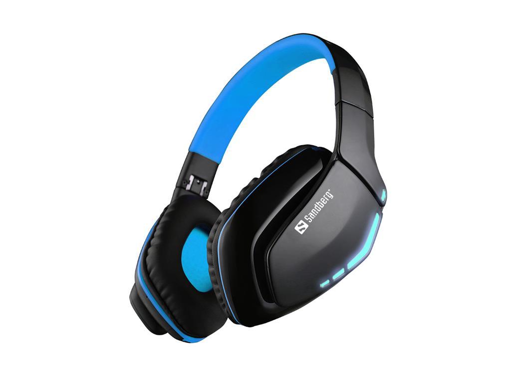Sandberg Blue Storm Bluetooth stereo sluchátka s mikrofonem