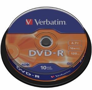 Verbatim DVD-R [ cakebox 10   4.7GB   16x   matte silver ]