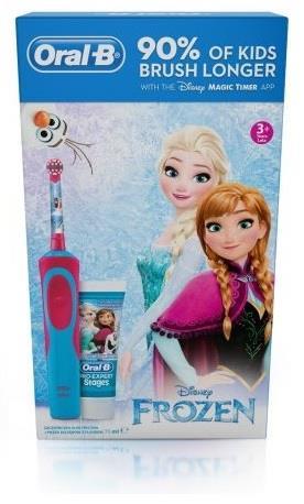 Oral-B D12 Kids Frozen zubní kartáček + zubní pasta 75ml