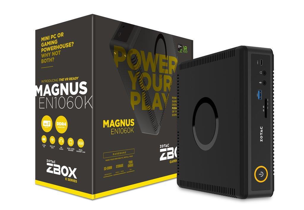 ZOTAC ZBOX EN1060K-BE, NVIDIA GTX1060, 2x DDR4 SODIMM, M2 SSD, 2.5'' SATAIII