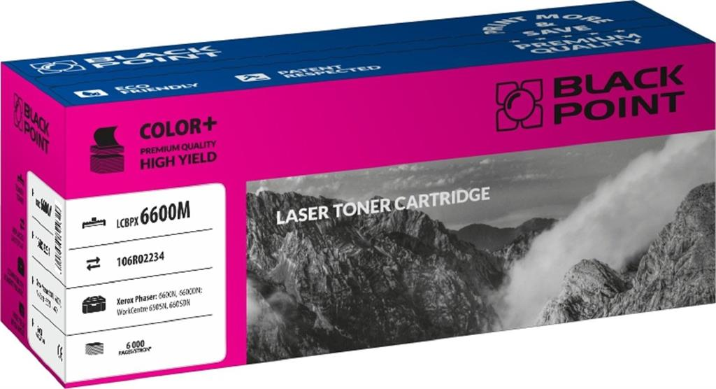 Toner Black Point LCBPX6600M | magenta | 6 000 pp | Xerox 6600N / 6600DN / 6605N