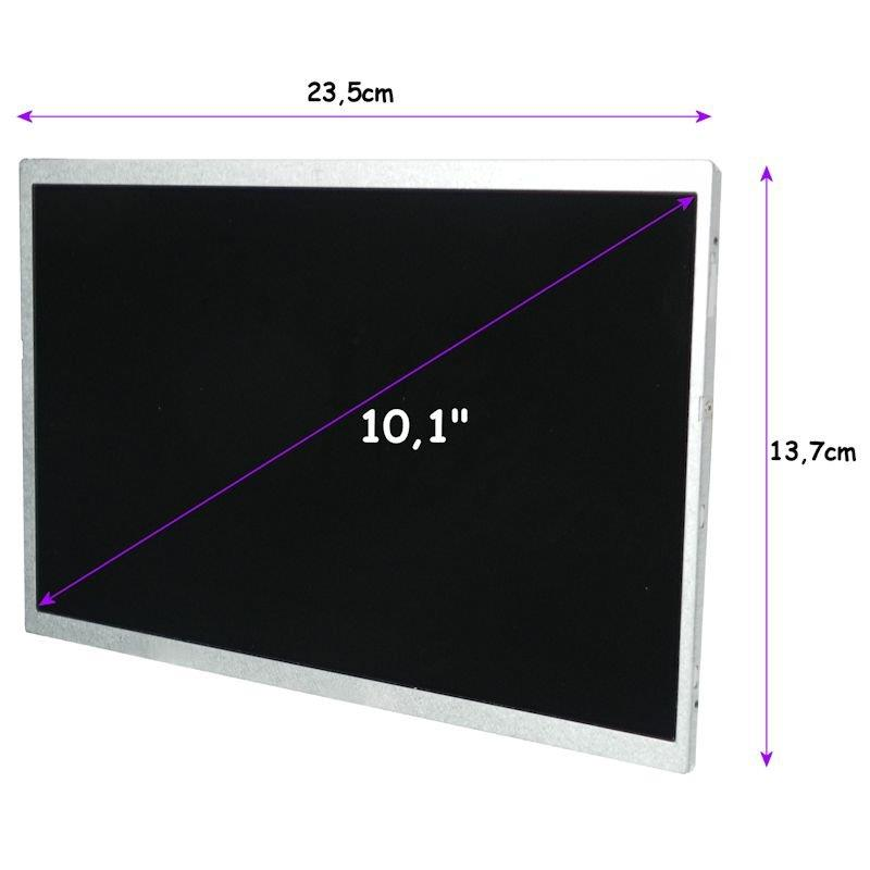 Qoltec LED displej 10.1'' 1024*600 GLOSSY Slim - 40Pin, GRADE A+