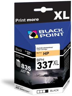Ink Black Point BPH337XL   Black   22 ml   835 p.   HP C9364
