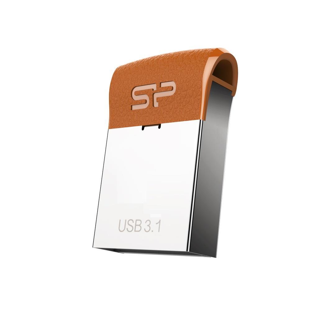 Silicon Power flash disk USB Jewel J35 8GB USB 3.1 COB kov hnědá