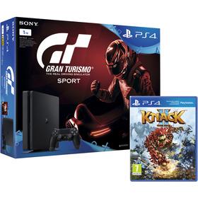 PS4 1TB+Gran Turismo+PS PLUS+Knack 2