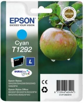 Inkoust Epson T1292 cyan | Stylus SX425W/SX525WD/BX305F/BX320FW/BX625FWD
