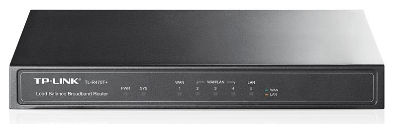 TP-Link TL-R470T+ 5-port Multi-Wan Router,4x WAN,Load Balance, Advanced firewall
