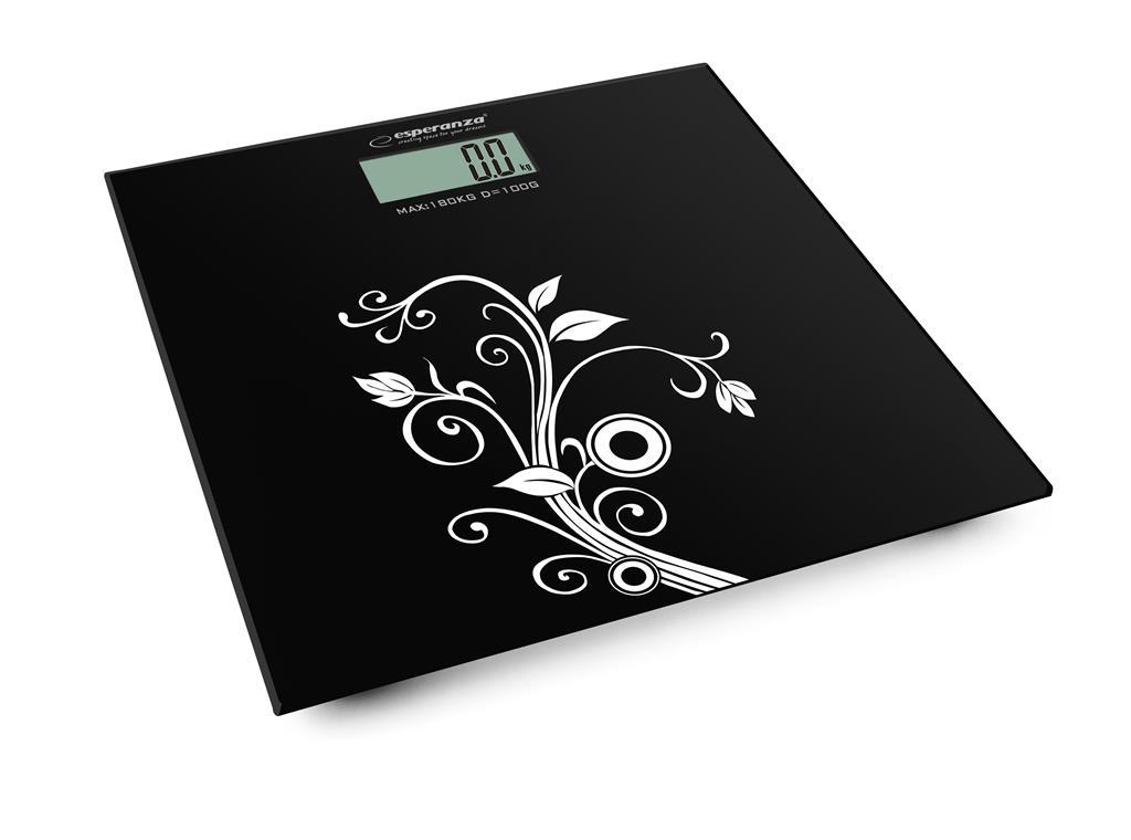Esperanza EBS003 YOGA osobní digitální váha, černá s bílým vzorem
