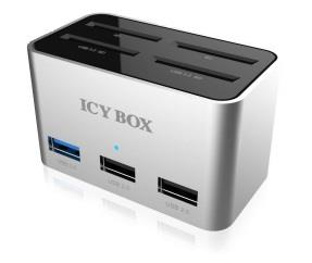 IcyBox Docking Station + 4bay cardreader SD (2x USB 3.0, 2x USB 2.0)