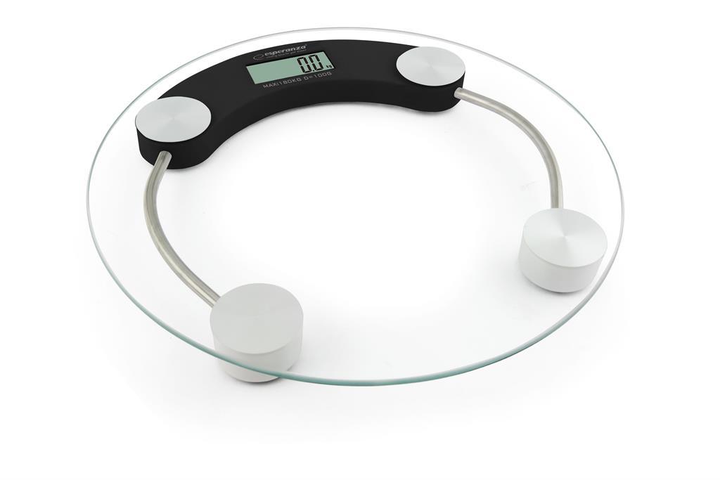 Esperanza EBS007K JUKARI osobní digitální váha, skleněná, černá