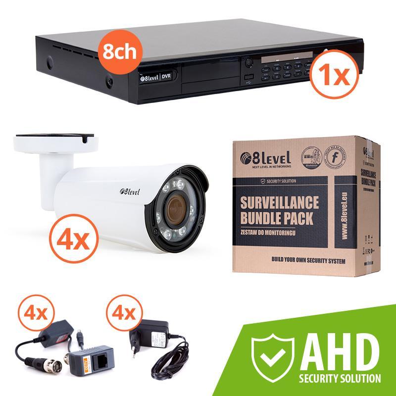 8level KIT outdoor AHD camera 4xAHB-E1080-VF4-2 1xDVR-AHD-1080P-081-1